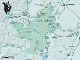 Map Of Central Oregon by Three Sisters Wilderness Oregon