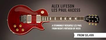 gibson guitar gibson custom alex lifeson les paul axcess