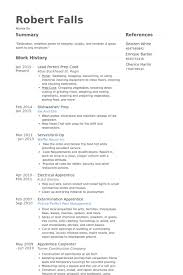 Prep Cook Resume Examples Attractive Ideas Dishwasher Resume 15 Cook Resume Objective