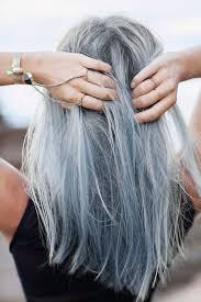 light blue hair dye picture of silver grey plus light blue hair