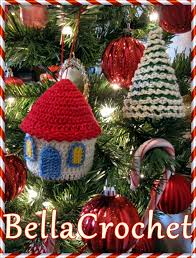 bellacrochet country cottage and tree ornaments a free crochet