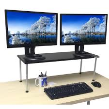Adjustable Stand Up Computer Desk by Titan Monitor Stand Adjustable Standing Stand Up Desk Stand