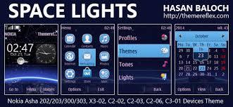 themes nokia asha 202 mobile9 space lights theme for nokia asha 202 203 300 303 x3 02 c2 02 c2