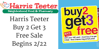 harris teeter buy 2 get 3 free sale begins 2 22