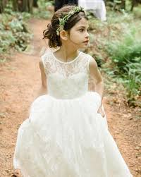 flower girl accessories country children white ivory lace flower girl