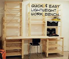 quick u0026 easy lightweight work bench 6 steps with pictures