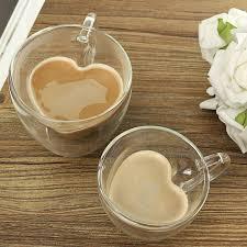 Heart Shaped Mugs Aliexpress Com Buy Glass Tea Cup With Handle Heart Shaped Clear