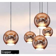 Sphere Ceiling Light Golden Copper Or Sliver Mirror Chandelier Style Pendant Ceiling