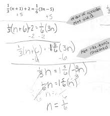 solve for n students are asked to solve a linear equation in one