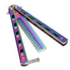 butterfly comb 3 colours new metal practice balisong butterfly comb cool sports
