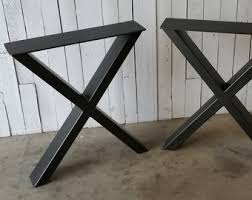 Table Desk Legs Industrial Table Legs Massive Structural Steel By Modernironworks