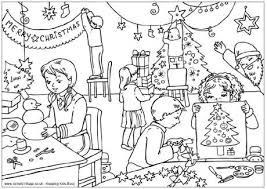 christmas colouring pages older kids adults