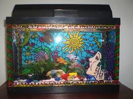 diy painted aquarium decor petdiys