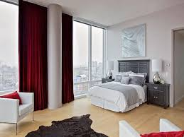 Gray And Red Curtains Interior Chic Relaxing Bedroom Paint Colors And Red Curtains Also
