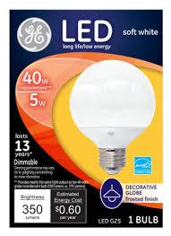 Ge Led Light Bulbs Ge Led5dg25m W Tp 5w White G25 Led Light Bulb 89954