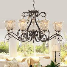 Chandeliers For Foyers 6 Light Wrought Iron Large Foyer Chandeliers