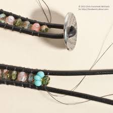 wrap bracelet tutorials images Leather wrap bracelet pattern with czech glass beads jpg