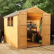 Shiplap Sheds For Sale 8 X 6 Waltons Tongue And Groove Double Door Apex Wooden Shed