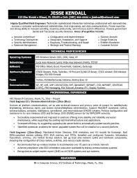 technical writer resume sample it engineering resume example