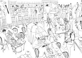 how to draw groups of people and crowds digital arts