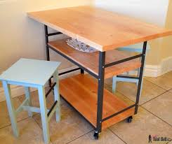 counter table with storage rolling island counter table her tool belt