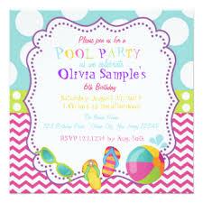 pool party invitations u0026 announcements zazzle com au