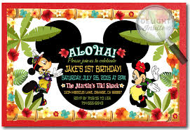 design mickey and minnie joint birthday party invitations as