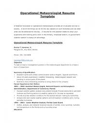 Resume Templates Teenager Cover Letter Meteorologist Resume Meteorologist Resume Objective