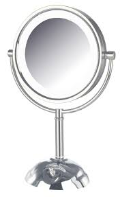 Makeup Mirrors Amazon Com Jerdon Hl8808cl 8 5 Inch Tabletop Two Sided Swivel Led