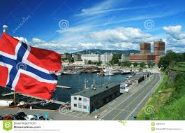 Flag Capital Capital Of Norway Oslo With Flag Stock Image Image 43909161
