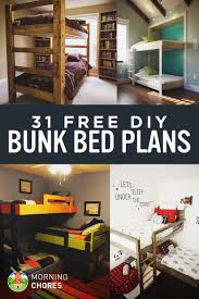 Solid Wood Loft Bed Plans by 31 Diy Bunk Bed Plans U0026 Ideas That Will Save A Lot Of Bedroom Space