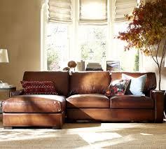 Pottery Barn Furniture Manufacturer Stylish Leather Chaise Sofa The Nevada Corner Sofa Rh Chaise Sofa