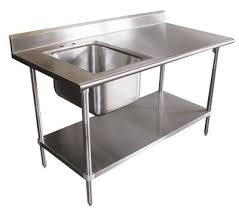 stainless steel prep table with sink advance tabco tables with integral sink