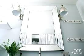 Beveled Mirror Bathroom Beveled Frameless Mirror Bathroom What Is A Mirror Design