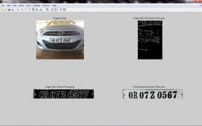 image processing how to extract and recognize the vehicle plate