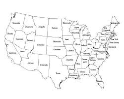 map usa with names printable map of us states without names maps of usa us map with