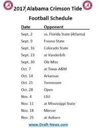 Alabama Football Home Decor 2017 Crimson Tide Football Schedule Bama Pinterest Crimson