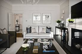 luxury transitional style home staging design by white bold and glamorous how to style around a black coffee table
