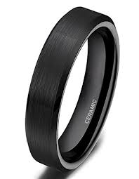 ceramic wedding bands somen tungsten black ceramic rings brushed comfort fit wedding