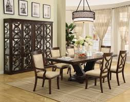 black wood dining room table gloss acrylic gray padded dining side chairs dark brown wood