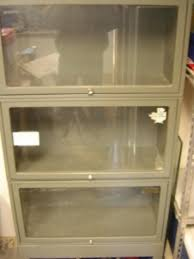 Metal Bookcase With Glass Doors For Sale Metal Bookcase With Glass Doors Sold