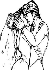 rapunzel flynn married kiss sketch coloring wecoloringpage