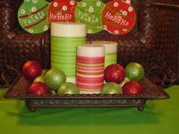 Easy Christmas Centerpiece - easy christmas decoration wrap candles with ribbon throw a