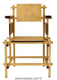 chaise rietveld chaise à structure apparente de stijl par gerrit rietveld