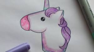 how to draw a unicorn emoji copic markers youtube