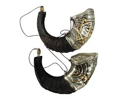 anointing shofar anointing sterling silver plated rams horn shofar ajudaica