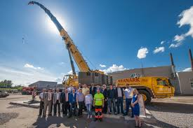 kranark features grove all terrain crane at russian open house