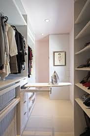 interior narrow closet design combine with small laundry room