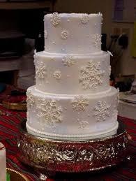 winter wonderland cake frozen cake snowflake cake wedding cake