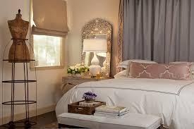 antique mirrored nightstand bedroom mediterranean with baseboards